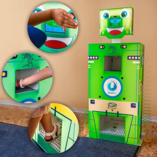 Totem Termoscanner sanificante rilevatore temperatura luoghi pubblici robottino bambini - stylplex